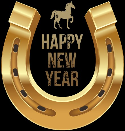 Happy_New_Year_with_Horse_and_Horseshoe_PNG_Clipart